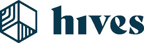 Hives Logo Horizontal Blue 9